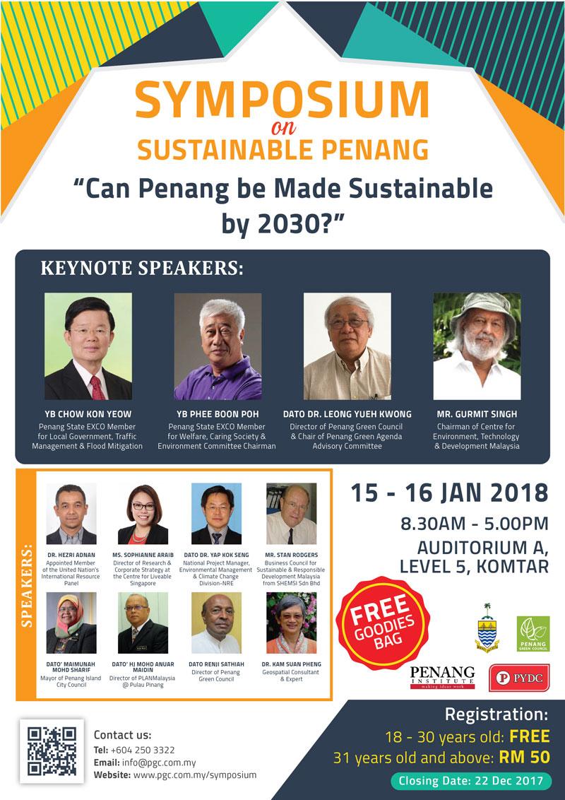 Penang Green Agenda Symposium 2017